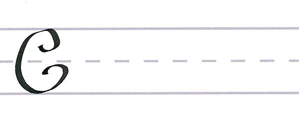 roundhand script - uppercase c