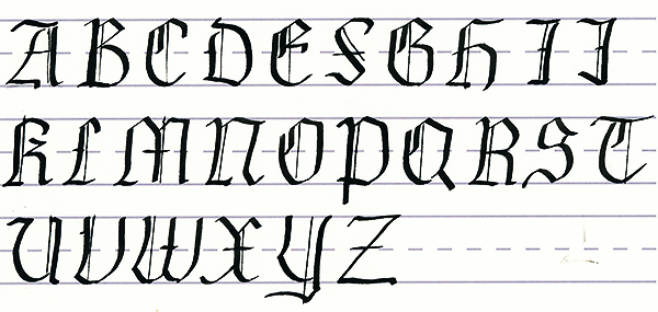 Mastering Calligraphy How To Write In Gothic Script