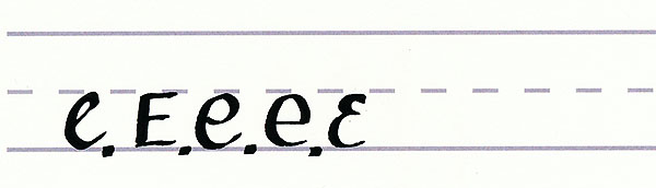 make your own font-lowercase e