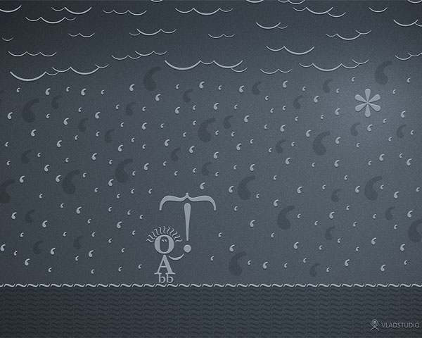 wallpaper art 10 typographic rain