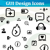 Preview for The Making of GUI Design Icons Font