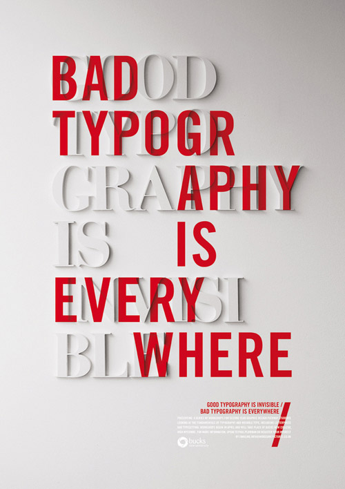 Typographic Book Cover Quote : Inspiration typographic posters