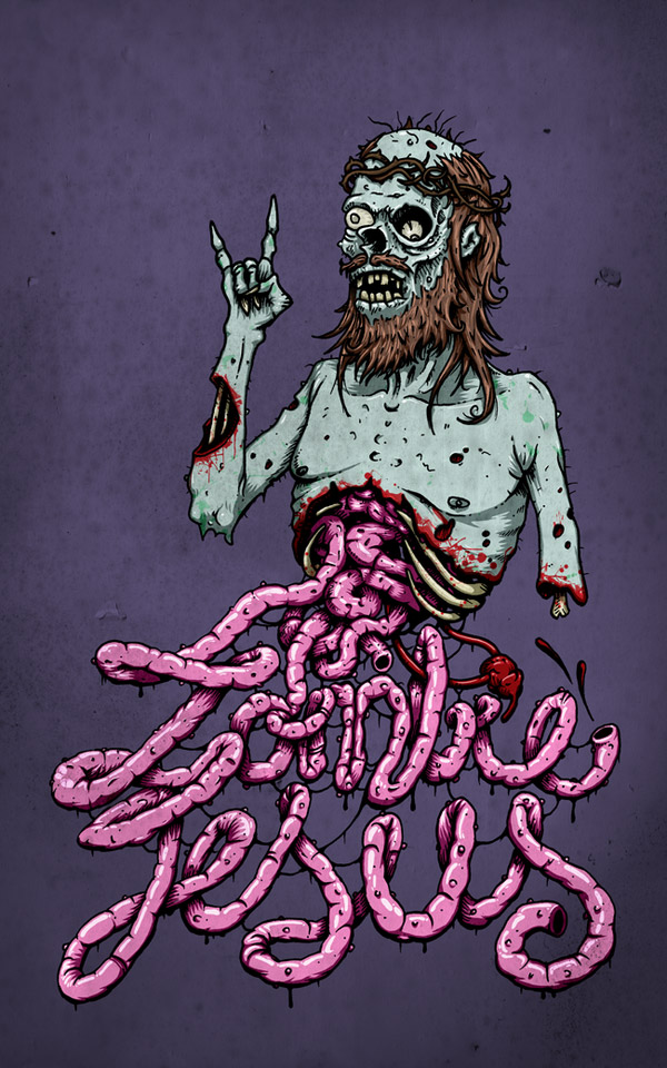 Zombie eating brains