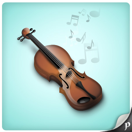 Link toHow to illustrate a marvelous violin icon