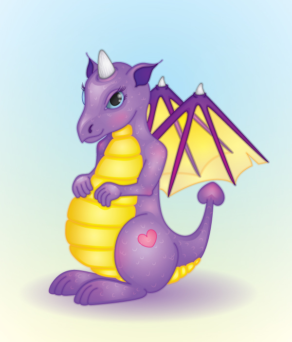 Create a friendly dragon with gradients in illustrator – vector premium tutorial