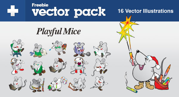 13 Free Packs of Animal Vector Graphics: Cute Cartoon Characters