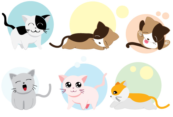 13 Free Packs of Animal Vector Graphics: Cute Cartoon ...