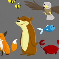 Preview for 13 Free Packs of Animal Vector Graphics: Cute Cartoon Characters