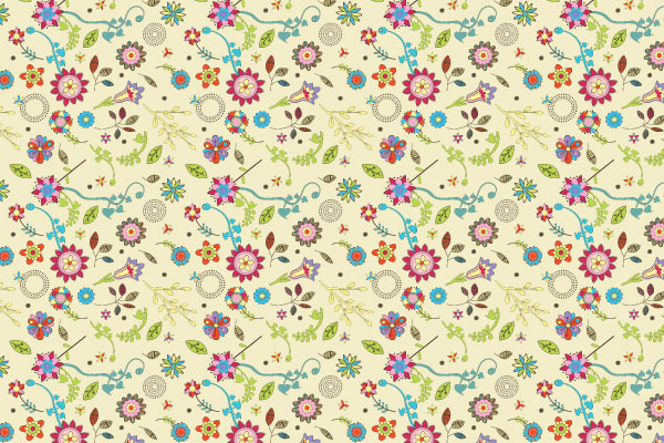 Free Vector Downloads of Illustrator Patterns for Vintage Design 15