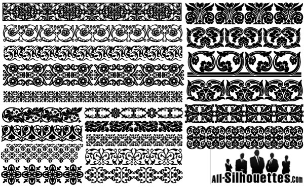 Massive collection of vintage vector graphics floral borders 1 floral borders stopboris Choice Image