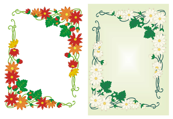 Massive Collection of Vintage Vector Graphics: Floral Borders ...