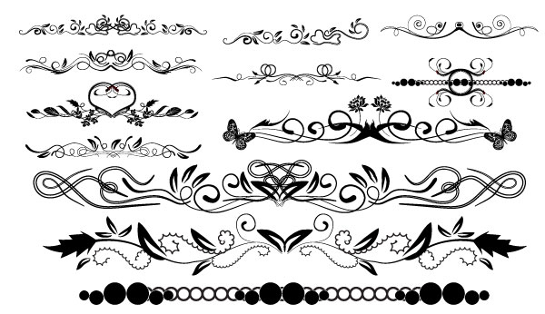 Massive Collection Of Vintage Vector Graphics Floral Borders