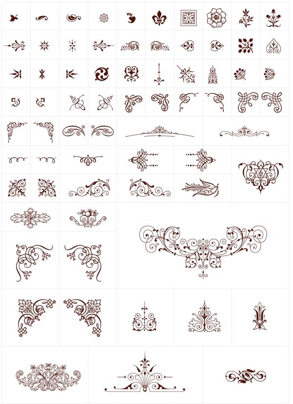 250+ Free Vintage Graphics: Flourish Vector Ornaments