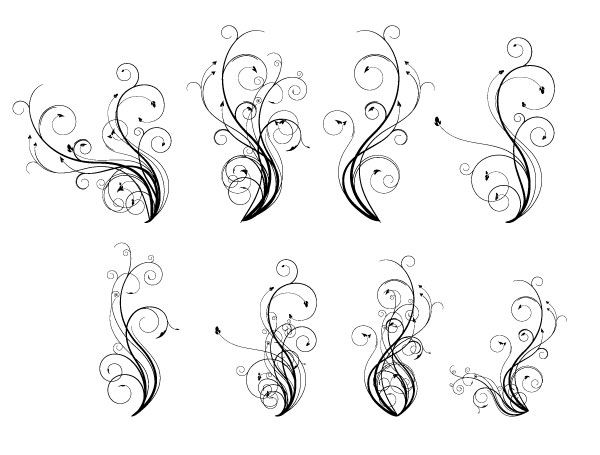 250+ Free Vintage Graphics: Flourish Vector Ornaments