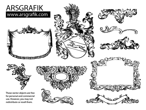 150+ Free, Vintage Vector, Medieval Heraldry Graphics