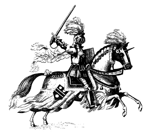 Medieval Knight On Horse Drawing 15-knight-on-horse