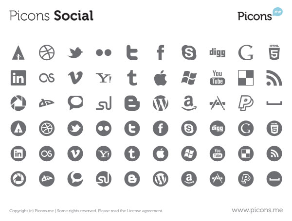 23 Free Vector Icon Packs for Social Media
