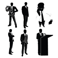 Preview for Best of, Free Vector Business People Silhouette Packs