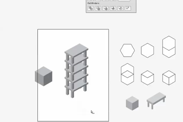 Illustrator CS4 - Isometric Cube