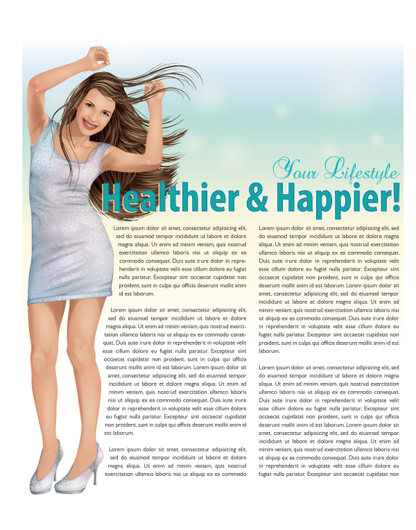 Link toCreate a happy illustration for a magazine article design - vector premium tutorial
