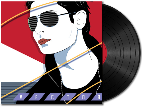 Link toCreate a vinyl record and 80's album cover - vector premium tutorial