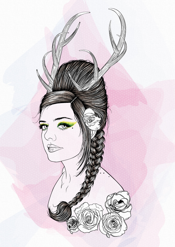 Link toCreating a stylish line art portrait with illustrator cs5, vector premium tutorial