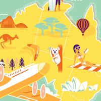 Create a Retro Style Airline Destination Travel Poster  Vector Premium Tutorial