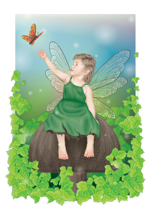 Link toCreate a personalized child fairy print - vector premium tutorial