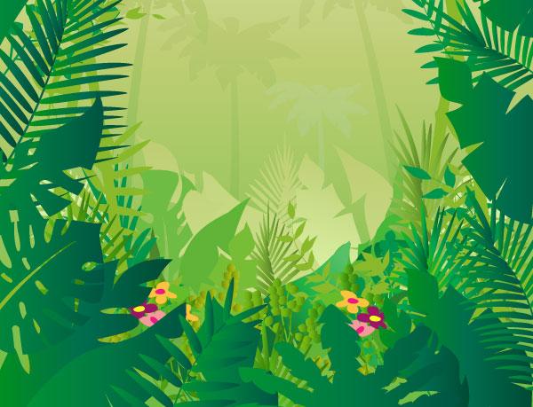 free clipart jungle trees - photo #39