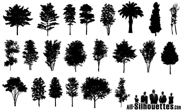 450 free graphics lush vector trees and summer leaves rh design tutsplus com tree silhouette vector png tree silhouette vector file