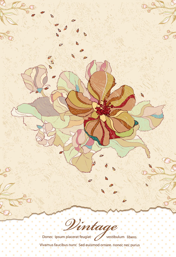 70+ Free Graphics: Vintage Vector Flowers and Floral ...