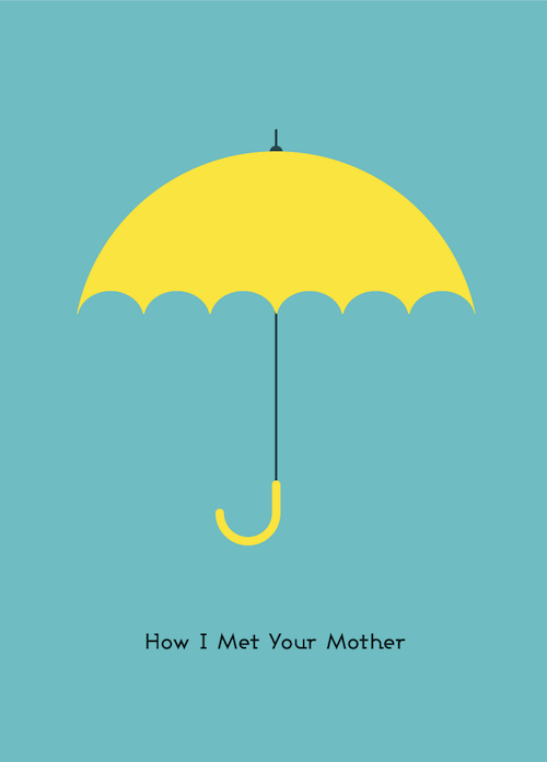 Yellow Umbrella How I Met Your Mother Poster 30+ Fantastic T...