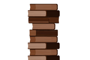 Stack of Books Brush