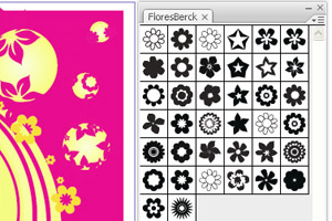 Flores 1 Free Illustrator Floral Brushes
