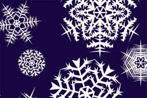 Snowflake Illustrator Brushes