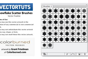 Snowflake Scatter Brushes