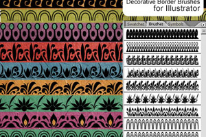 Illustrator Decorative Border Brushes