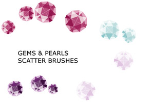 Gems And Pearls Brush Set