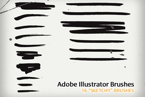 16 Sketchy Illustrator Brushes