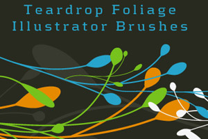 Teardrop Foliage Illustrator CC Brushes Free