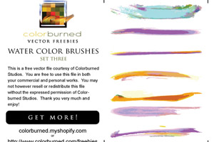 100 Wonderful Water Color Illustrator Brushes