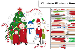 Christmas Illustrator Brushes