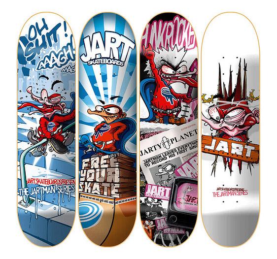30 Cool Vector Illustrated Skateboard Decks Tuts Design