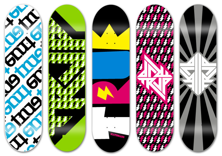 Cool Skate Boards 30 Cool Vector Illustrated Skateboard Decks