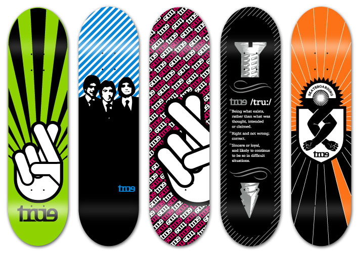 30 Cool Vector Illustrated Skateboard Decks