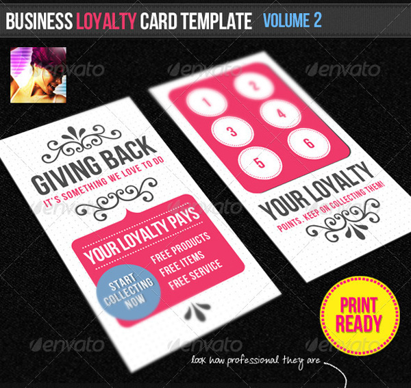 New Categories On GraphicRiver - Business loyalty card template