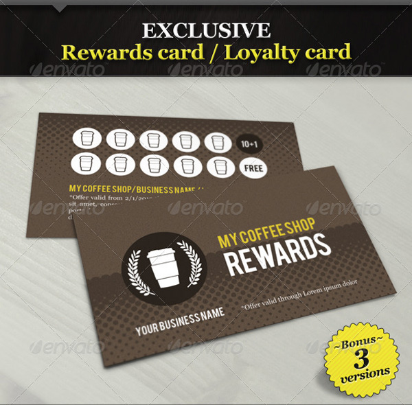 Coffee Shop Business Cards Design Coffee Shop Rewards Card