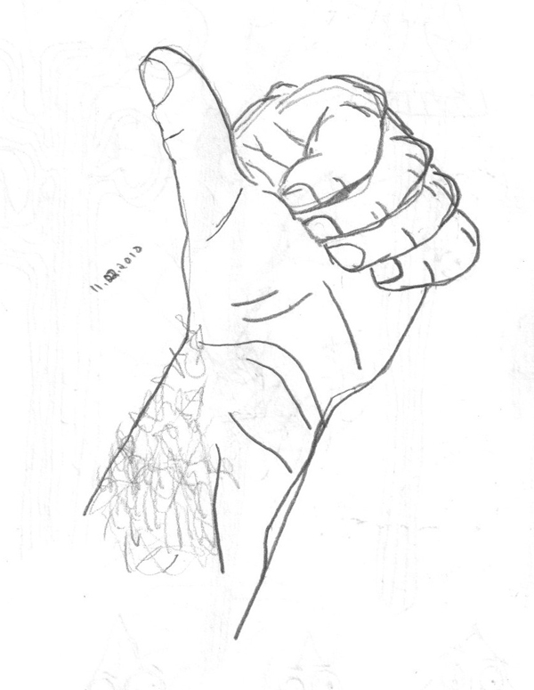D Line Drawing Of Hand : Assignment create a contour line drawing