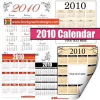 2010 free vector calendarsmall