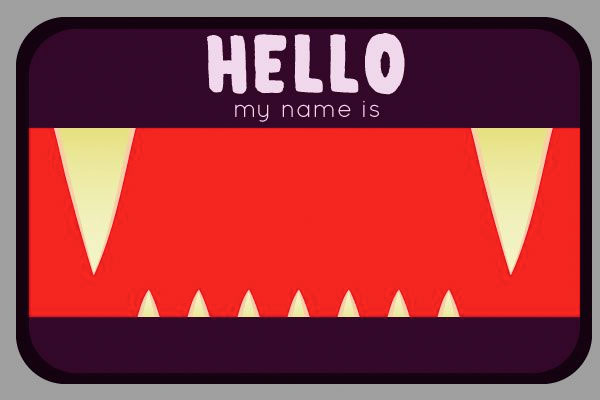 Nametag Templates Rigid Vinyl Name Tag